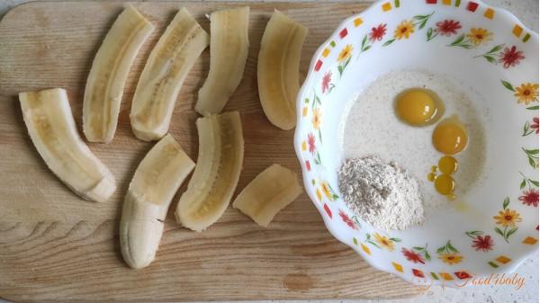 Банан в тесте из цельнозерновой муки
