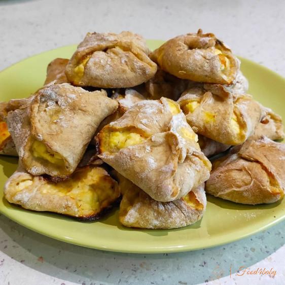 Банановое печенье с творожной начинкой для детей без сахара