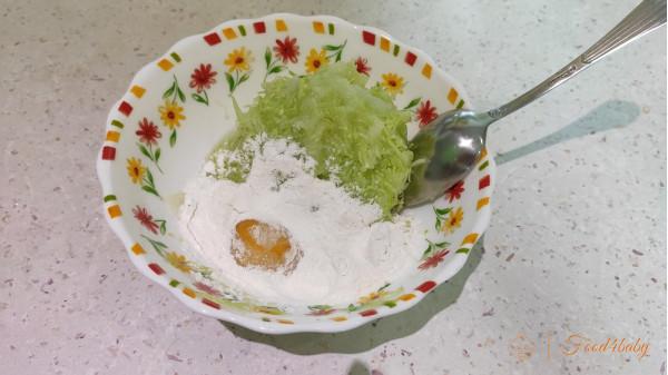 Оладьи из кабачка с рисовой мукой