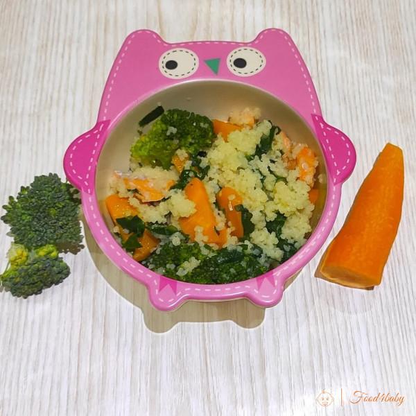 Рецепт каши кус-кус с рыбой, шпинатом и овощами для ребенка