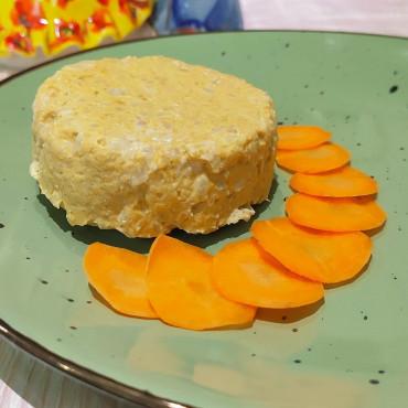 Рецепт м'ясної запіканки з рисом та морквою на пару для дітей