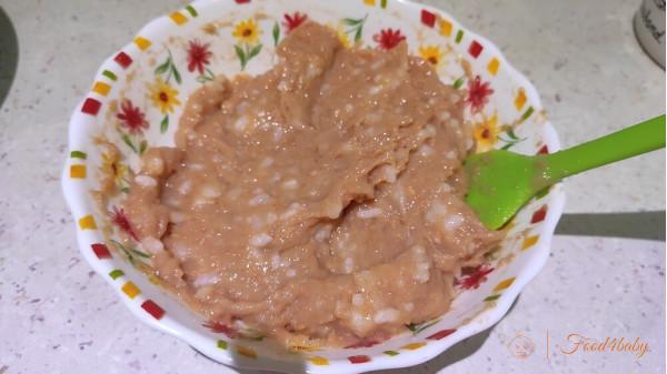 Рецепт мясной запеканки с рисом и морковью на пару для детей