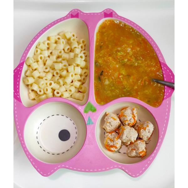 Овощной суп и макароны