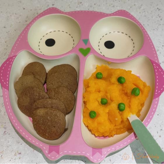 Печінкові млинці та пюре з картоплі та гарбуза для дітей до року та після року