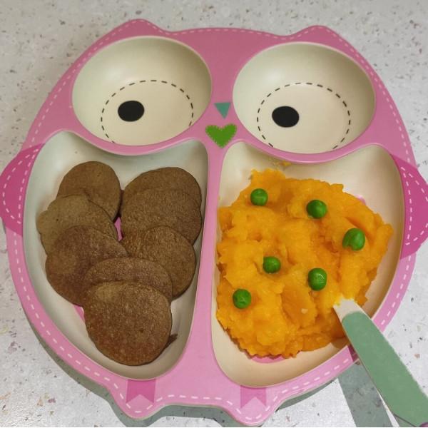Печеночные оладьи и пюре из картофеля и тыквы для детей до года и после года