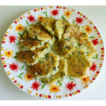 Оладьи с цветной капусты со шпинатом