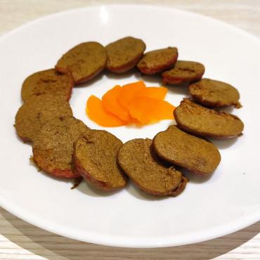 Оладьи из печени и моркови для детей
