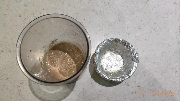 Запіканка з печінки з замороженим кабачком на пару чи в духовці.