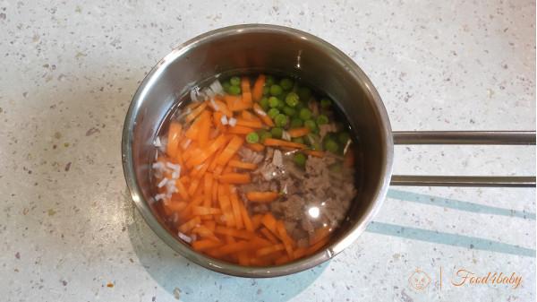 Пшенная каша с овощами и мясом