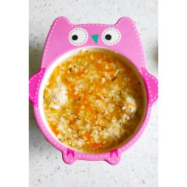 Пшоняний суп з яйцем