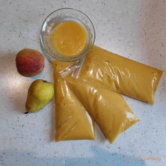 Заготовка на зиму: Фруктовое пюре груша-персик