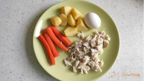 Нежная рыбная запеканка с овощами