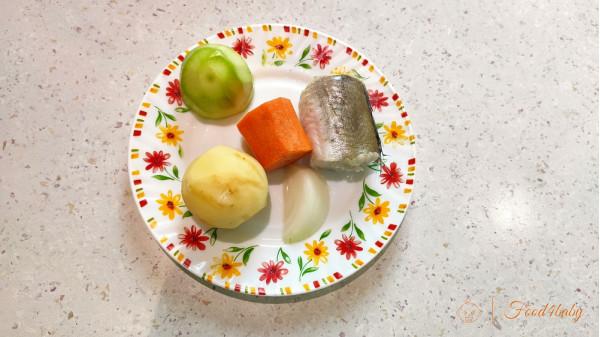 Пюре с рыбой и овощами