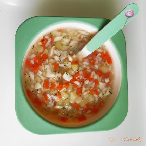 Смачний рибний суп для дитини з рисом
