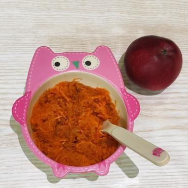 Салат из моркови и яблока витаминный