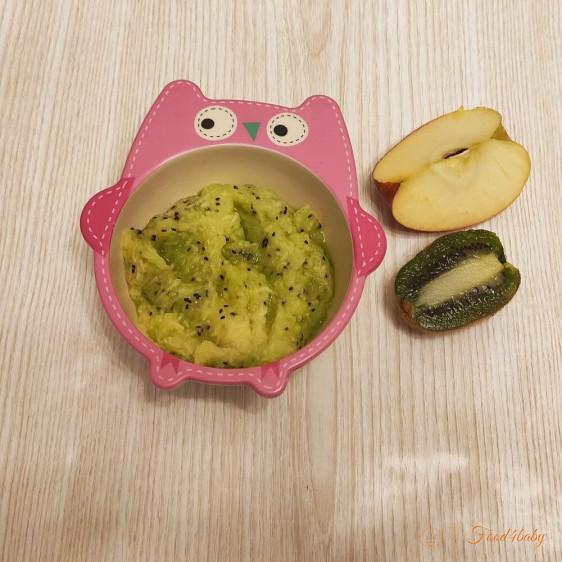 Фруктовый салат из яблока и киви