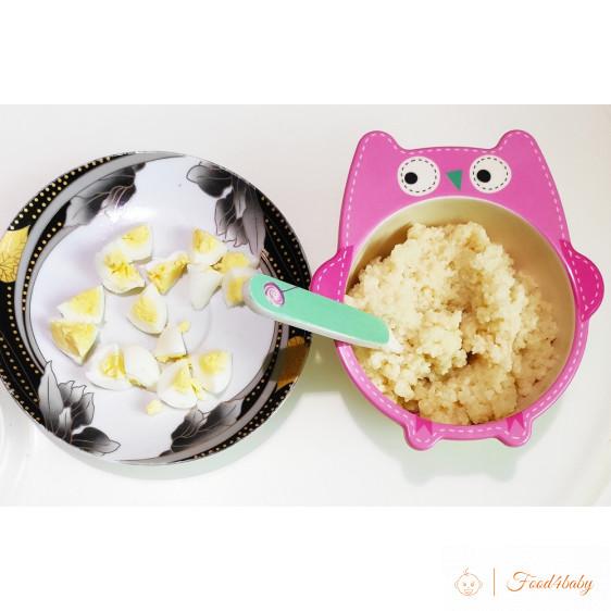 Каша Кус-кус с маслом и перепелиные яйца