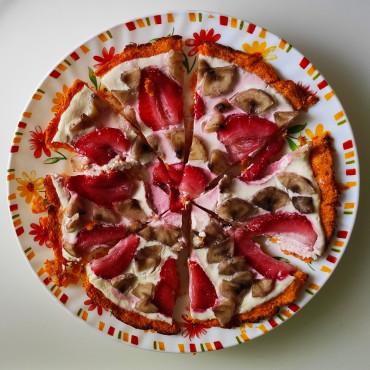 Сладкая пицца с морковной основой БЕЗ сахара