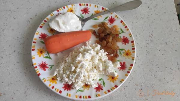 Печиво з кисломолочного сиру з морквою без цукру для дітей до року, в рік та після року