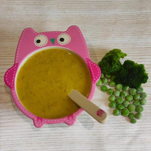 Суп-пюре из зеленого горошка и брокколи