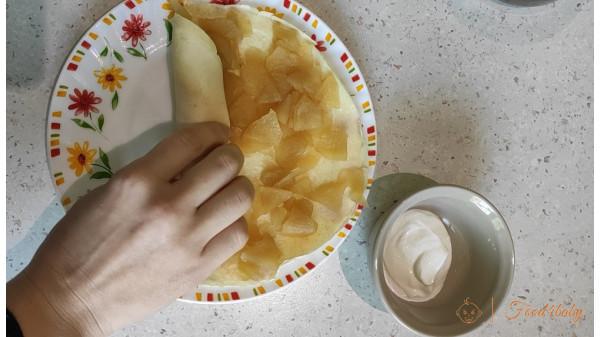Творожный блин с яблоком без сахара!