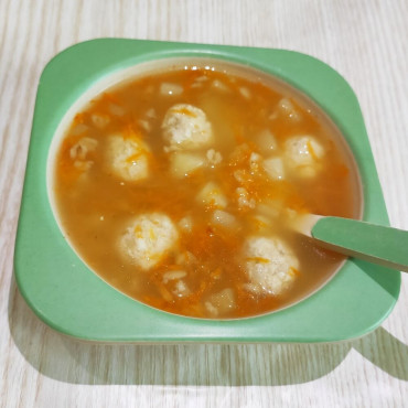 Овсяный суп с фрикадельками