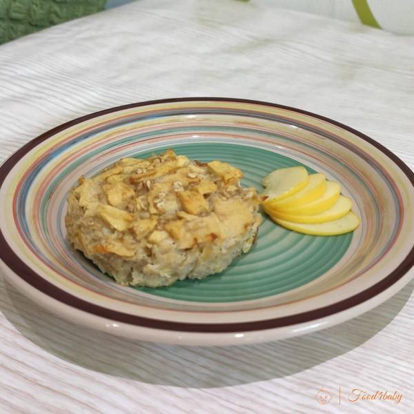Рецепт яблочно-овсяной запеканки без сахара и муки для детей