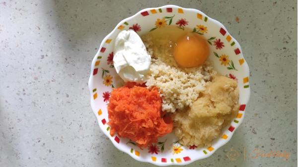 Солодка запіканка з пшона з морквою та яблуком