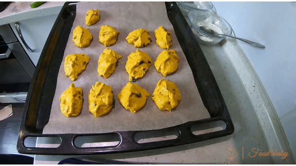 Печенье из тыквы с изюмом без сахара для детей