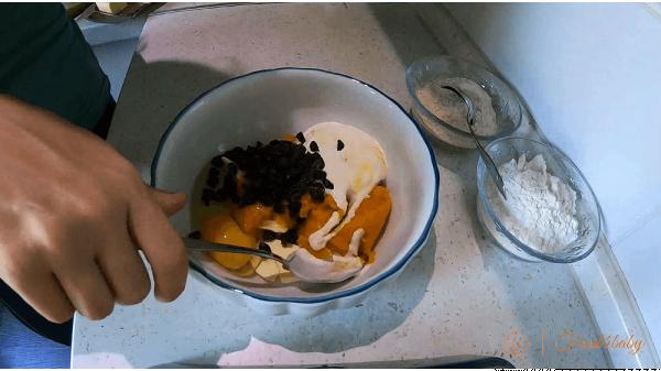 Печиво з гарбуза з родзинками без цукру для дітей
