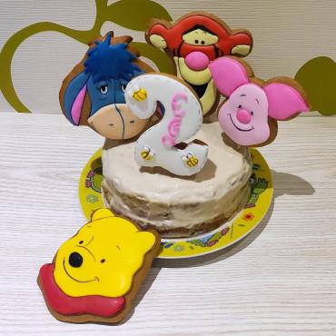 Торт на 1 годик, 2 годика для девочки или мальчика без сахара