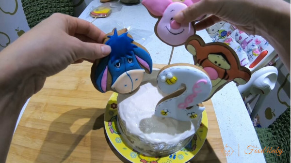 Торт на 1 рочок, 2 рочки для дівчинки чи хлопчика без цукру