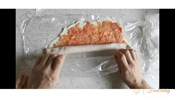 Завитушки с мясом и тестом с рисовой муки